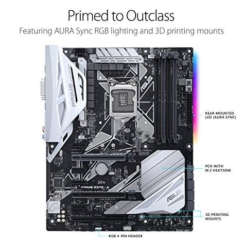 Asus Tek Prime Z370-A Asus Motherboard Prime Z370-A Lga1151 Ddr4 Displayport/Hdmi Dvi M.2 Usb 3.1 Z370 Atx Retail