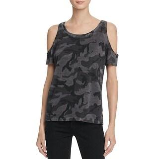 Generation Love Womens Amber T-Shirt Camouflage Jewel Neck