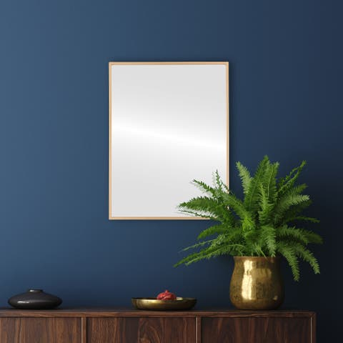 Singapore Framed Rectangle Mirror - Gold Paint - Gold Paint