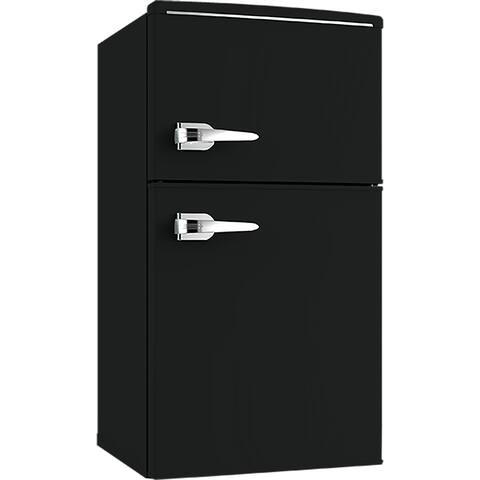 Avanti RMRT30X1B-IS 3.0 CF RETRO STYLE Two Door Refrigerator - Black