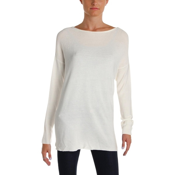 Nic + Zoe Womens This Is Living Knit Top Tencel Ribbed