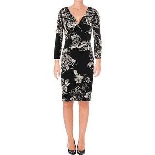 Lauren Ralph Lauren Womens Wear to Work Dress Floral Print Surplice