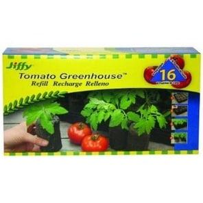 Jiffy J6R16 Tomato Greenhouse Plant Starter Refill, 50 mm, 16 Pack