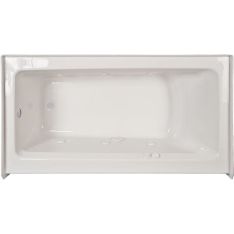 """Jacuzzi J1S6036WRL1XX Signature 59.88"""" Whirlpool Alcove Bathtub with Right Drain and Push Button Controls"""