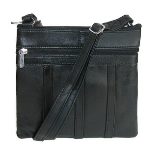 CTM® Women's Patch Leather Crossbody Handbag - One size