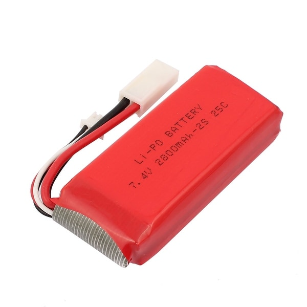 DC 7.4V 2800mAh Red Recycle Charging Lithium Battery Pack for Aerial Photography