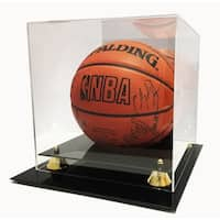 Deluxe UV Protected Full Size Basketball Display Case w/ Mirror Back