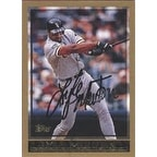 Lyle Mouton Chicago White Sox 1997 Topps Autographed Card  slightly smudged signature  This item co