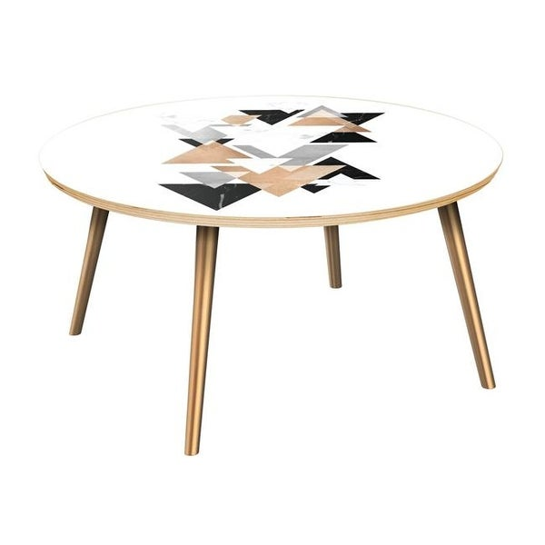 Walnut And Chrome Coffee Table: Shop Stella Flare Coffee Table