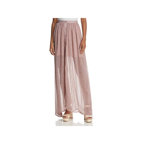 French Connection Womens Maxi Skirt Elao Button-Down
