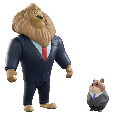 Disney Zootopia Chararcter 2-Pack Mayor Lionheart & Lemming Businessman - multi
