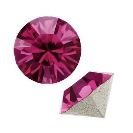 Swarovski Crystal, 1088 Xirius Round Stone Chatons ss39, 6 Pieces, Fuchsia