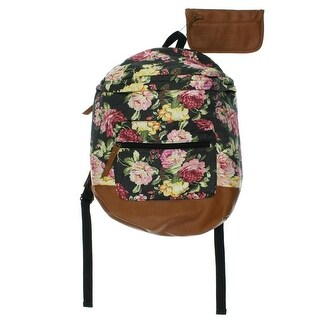 Madden Girl Womens Canvas Floral Print Backpack