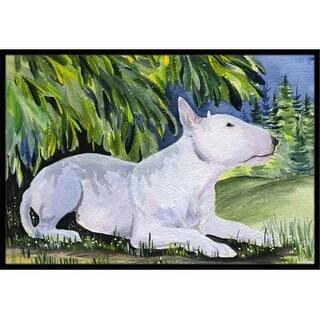 Carolines Treasures SS8266MAT 18 x 27 in. Bull Terrier Indoor Outdoor Doormat