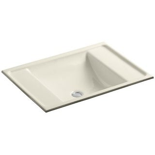 "Kohler K-2838 Ledges 13"" Cast Iron Undermount Bathroom Sink with Overflow"