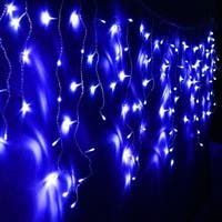 11ft Extendable LED Icicle String Lights for Christmas, Holiday, Wedding, Party, Event Decorative Lighting, Blue
