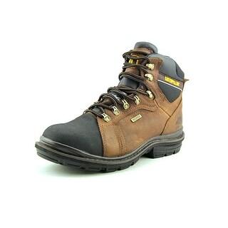 "Caterpillar Manifold WP Tough 6"" Men Steel Toe Leather Brown Work Boot"