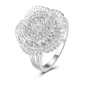 Classical Floral Petal Large Ring