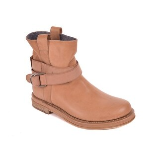 Brunello Cucinelli Womens Light Brown Distressed Ankle Boots