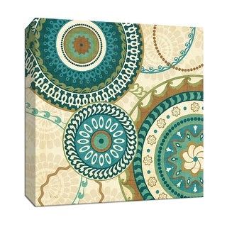 """PTM Images 9-152935  PTM Canvas Collection 12"""" x 12"""" - """"Owl Forest Suzani I"""" Giclee Abstract Art Print on Canvas"""