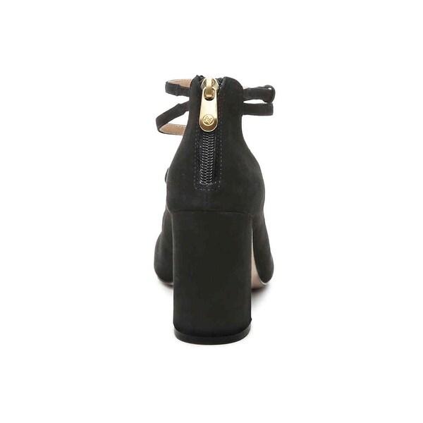 Adrienne Vittadini Womens Grazen Leather Closed Toe Ankle Strap Classic Pumps - 6