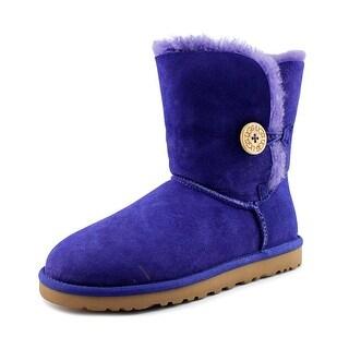 Ugg Australia Bailey Button Women Round Toe Suede Blue Winter Boot