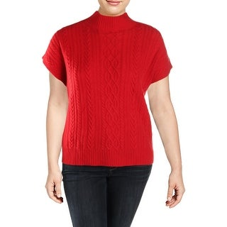 Lauren Ralph Lauren Womens Pullover Sweater Cashmere Cap Sleeves - XL