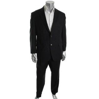 Ralph Lauren Mens Two-Button Suit Wool Pinstripe - 44r