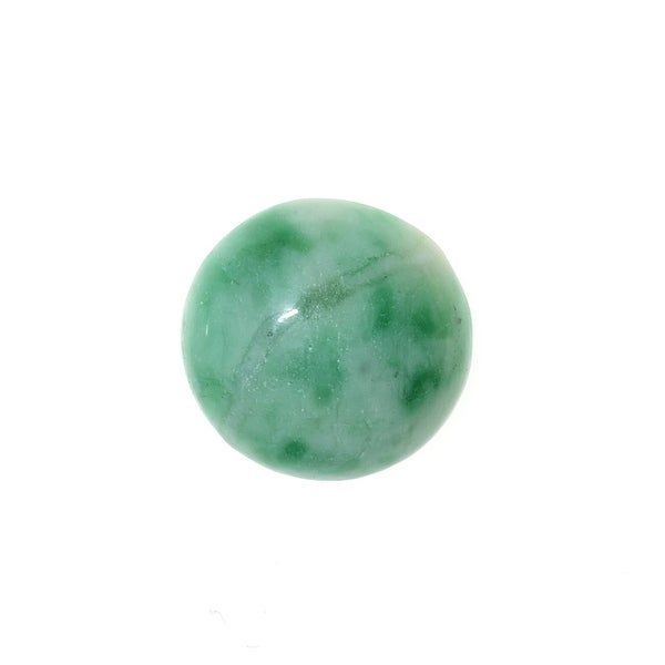 Green Zing Jiang Jade Gemstone Round Flat-Back Cabochons 13mm (4 Pieces)