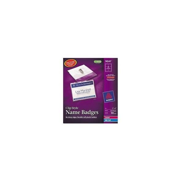 shop avery badge holder kit w laser inkjet insert badge holder kit