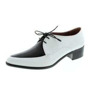 Tabitha Simmons Womens Helga Leather Colorblock Oxfords - 35
