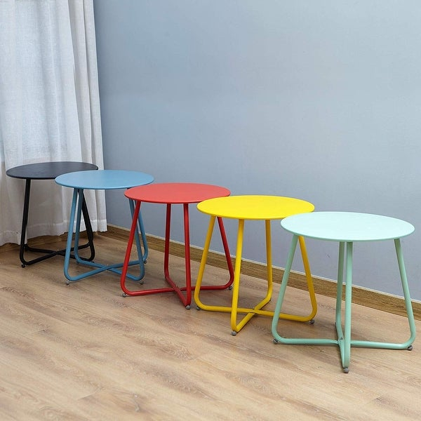 Clihome Weather-resistant Outdoor Steel Round Side Table. Opens flyout.
