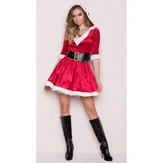 Santa Baby Velvet Holiday Dress, Hoty Santa Dress