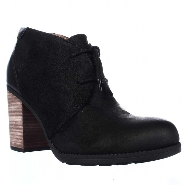 Tommy Hilfiger Duff Lace Up Low Rise Booties, Black Multi