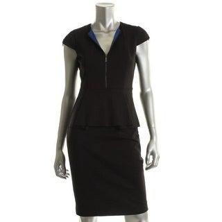 Elie Tahari Womens Lanetta Ponte Peplum Cocktail Dress - 2