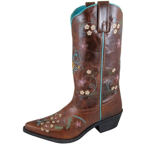 Smoky Mountain Western Boots Womens Florence Brown Crackle