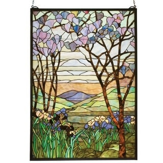 Meyda Tiffany 12514 Stained Glass Tiffany Window from the Magnolia Collection