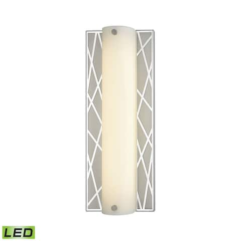Captiva 1-Light Vanity Sconce in Polished Stainless and Matte Nickel with Diffuser - Integrated LED