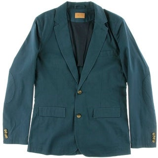 Jachs NY Mens Modern Fit Cotton Two-Button Blazer - M