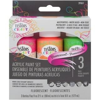 Testors Acrylic Paint Set 3/Pkg-Flourescent