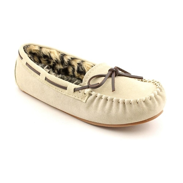 Blitz Peggy Sue Women N/S Round Toe Suede Ivory Slipper