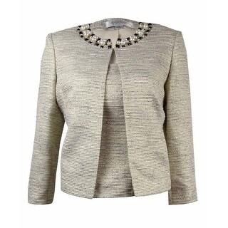 Tahari Women's 'Charles' Jewel-Trim 2PC Blazer Set