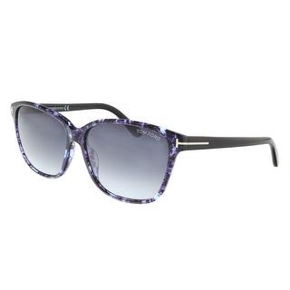 Link to Tom Ford FT0432 55W Dana Purple Tortoise Square Sunglasses - 59-15-140 Similar Items in Women's Sunglasses
