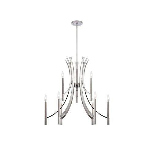 Designers Fountain 84589 Cordova 9 Light 2 Tier Up Lighting Chandelier
