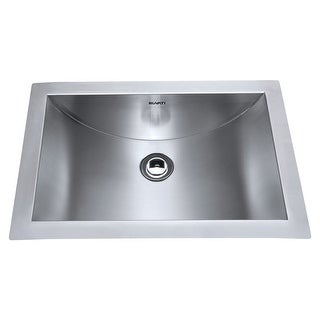 "Ruvati RVH6110 Ariaso 21"" 18 Gauge Stainless Steel Undermount Bathroom Sink - STAINLESS STEEL"