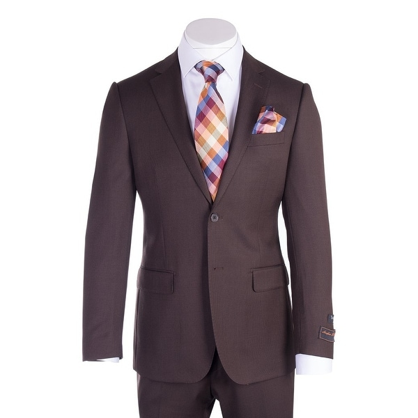 Novello Suit - Brown Birdseye, Modern Fit
