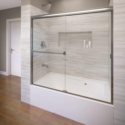 Basco 3400 56cl Clic 70 High X 56 Wide Byp Framed Tub Door With Clear Gl Silver Free Shipping Today 27259777