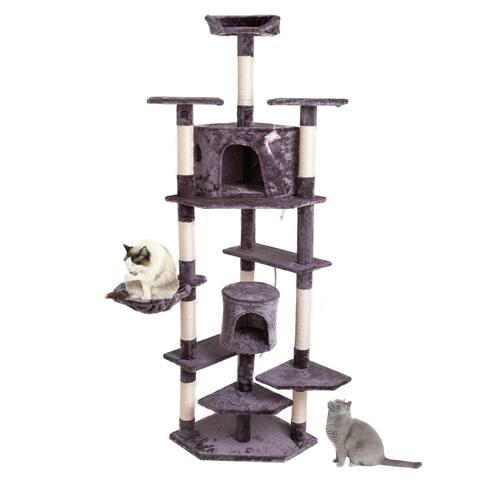 """80"""" Solid Cute Sisal Rope Plush Cat Climb Tree Cat Towe"""