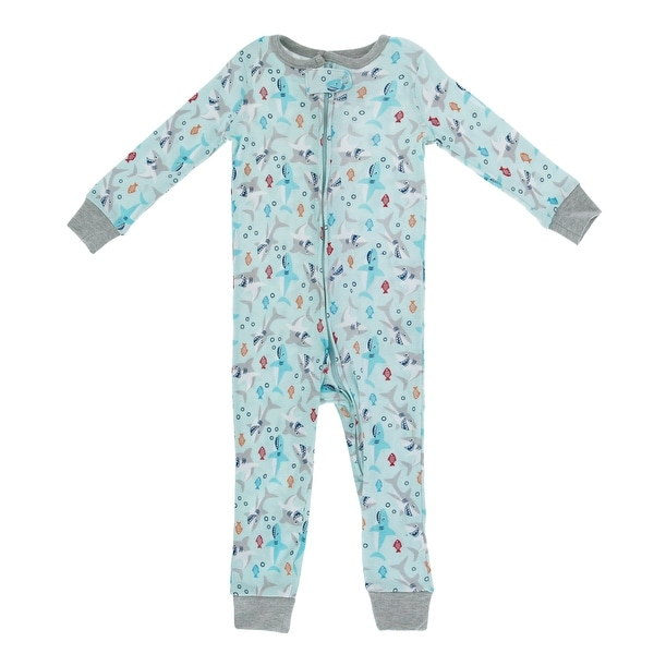 Only Boys Infant Shark Print Footless Sleeper. Opens flyout.