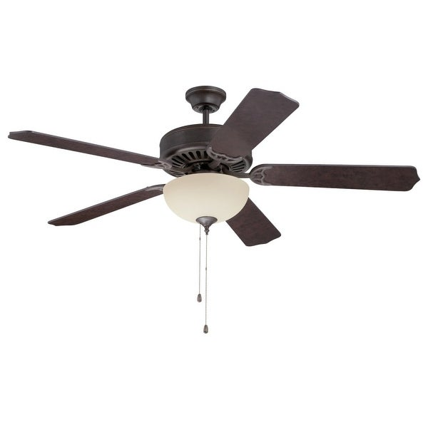 "Craftmade K11125 Pro Builder 208 52"" 5 Blade Indoor Ceiling Fan with Light Kit and Blades Included - aged bronze textured"